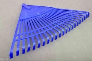 115cm Handle 55cm Wide Heavy Duty Plastic Canadian Rake Lawn Leaves Garden
