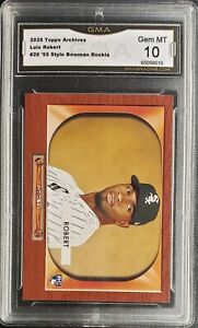 LUIS ROBERT 2020 TOPPS ARCHIVES 1955 ROOKIE CARD RC #20 GMA GEM MINT 10