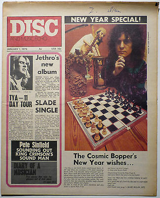 DISC & MUSIC ECHO Magazine 1/1/1972 T Rex King Crimson Sinfield Amazing Blondel
