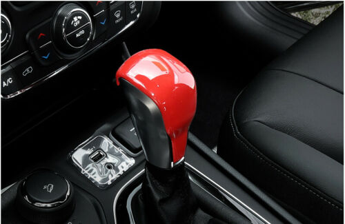 Fit For Jeep Cherokee 2019-2020 ABS Red Console Gear Shift Knob Cover Trim 1pc