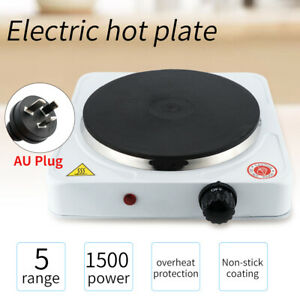 Portable Single Electric Cooking Hot Plate Hob Cooker HomeOffice Camping 1500W