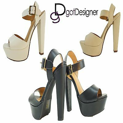 Women/'s Open Toe Strappy Buckle Wedge Platform Sandal Shoes Size 6-10 NEW
