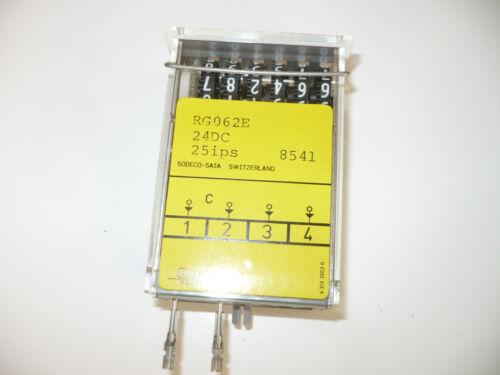 SODECO RG062E 6 DIGIT COUNTER 25i//S 24DCV 180 OHM RG 062 E NOS