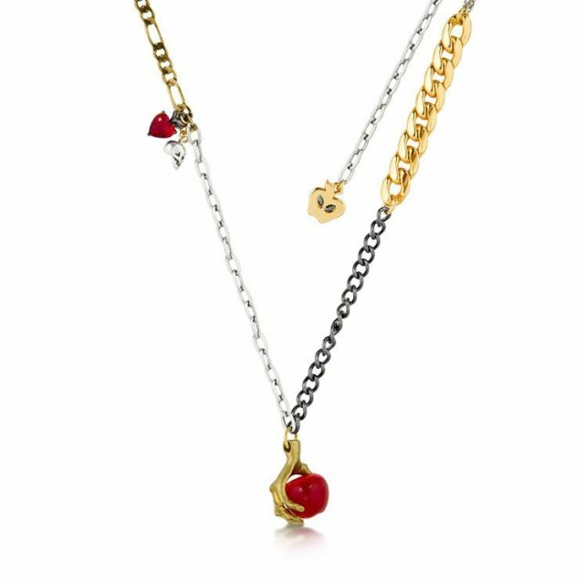 DISNEY 14K YG Plated Snow White Necklace $99.00 RRP