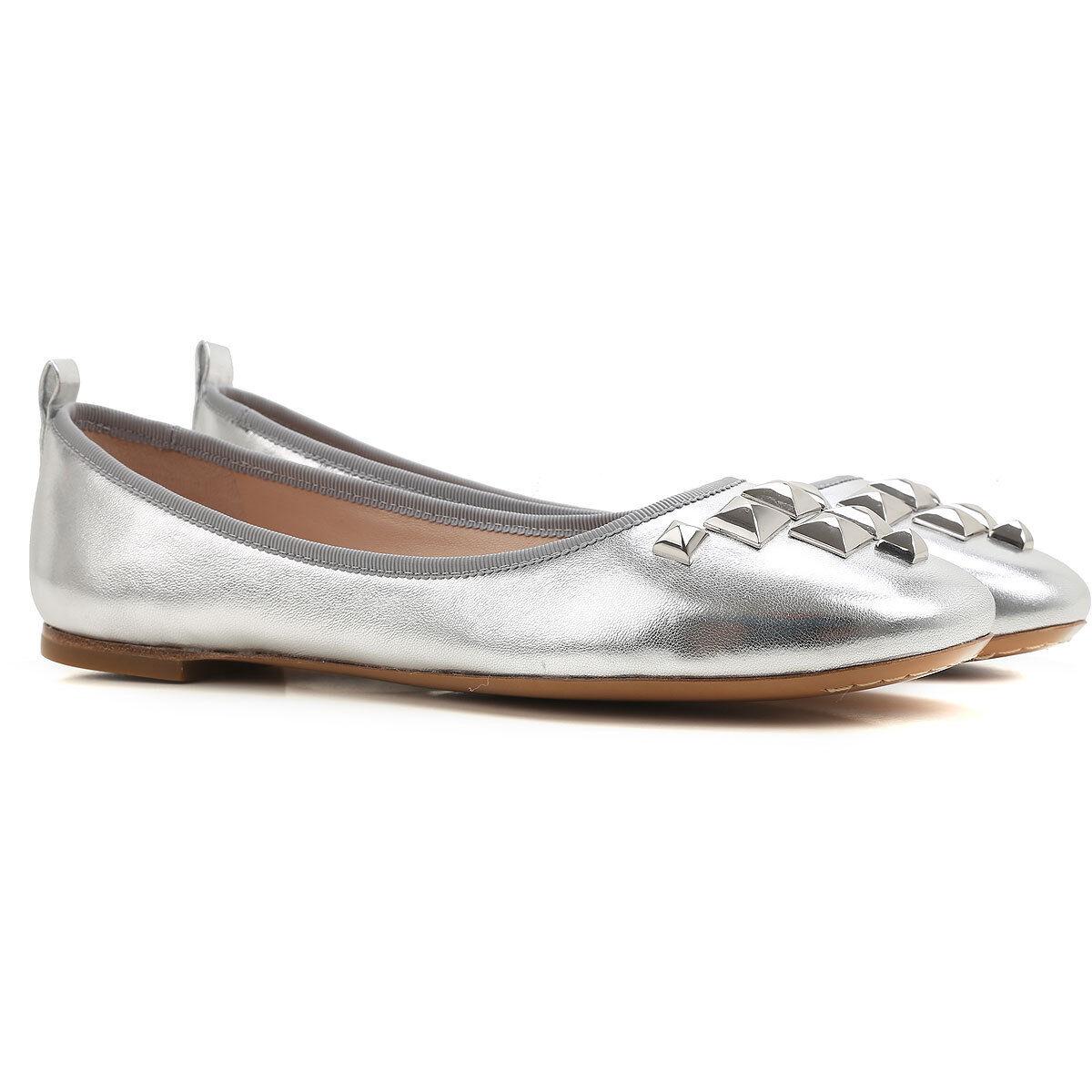 Marc Jacobs Cleo studded ballerina, Flats studded Cleo SILVER