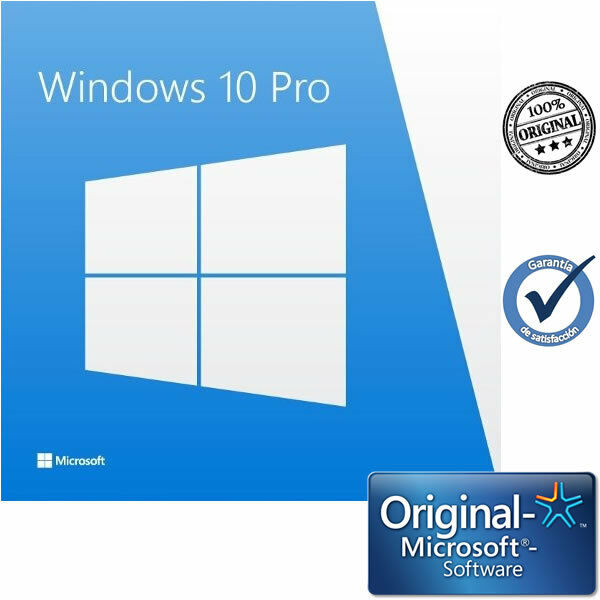 Microsoft Windows 10 Pro 32/64 Bits ESD Multilenguaje Clave de Licencia Original