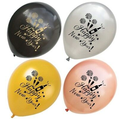 10PCS Happy New Year Eve Latex Balloon Marry Engagement ...