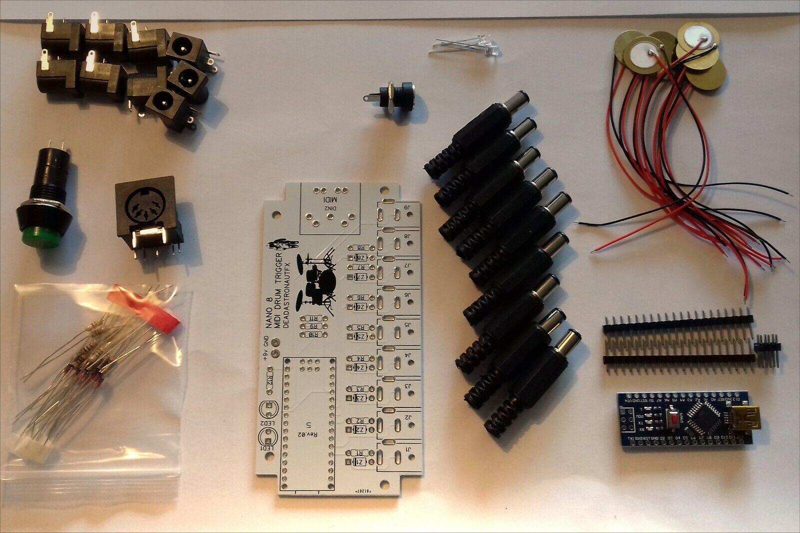 DIY MIDI E-DRUM KIT NANO-8 FULL COMPLETE KIT (MIDI DRUM BRAIN)