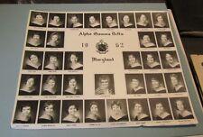 1962 University of Maryland Alpha Gamma Delta Sorority Girls Photo Members Named