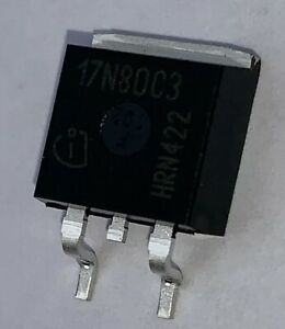 MOSFET N-Ch 80V 120A D2PAK-2 Pack of 10 IPB017N08N5