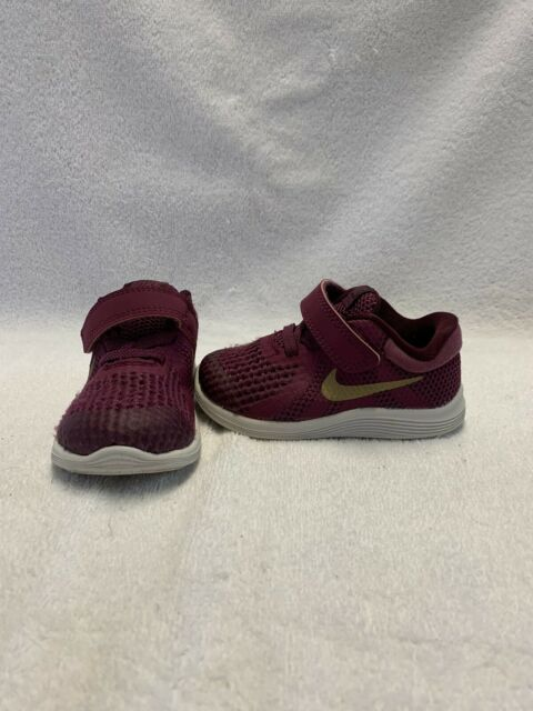 Nike Revolution 4 Infant/Toddler Girls Tea Berry/gold ...
