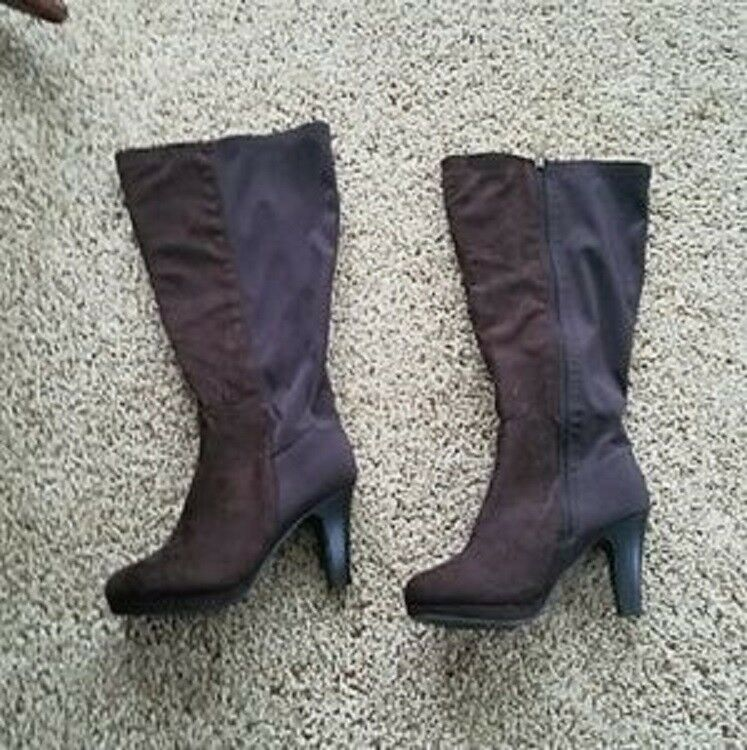Lane Bryant Brown Wide Calf Boots Size 10