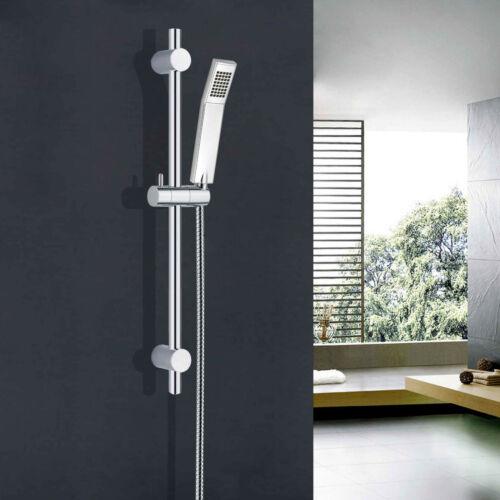 Bathroom Slider Rail Bar Hand Shower Bracket Chrome Adjustable Shower Riser Kit