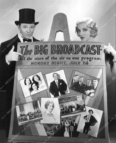 8b20-15964 Stuart Erwin Leila Hyams maybe cool ad promo film The Big Broadcast 8