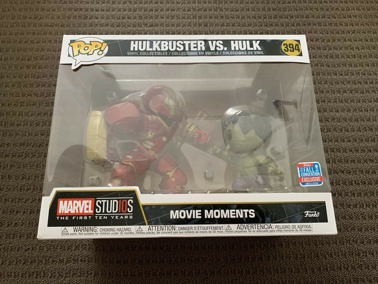 Hulkbusster mot Hulk NYCC 2018 EXKLUSIVE FUNKO Pop Vinyl Figur IN HAND