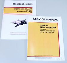 Set New Holland 488 Haybine Mower Conditioner Service Operators Owners Manual