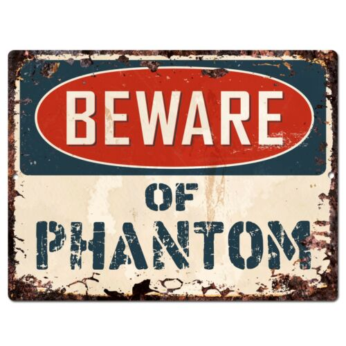 PP1477 Beware of PHANTOM Plate Rustic Chic Sign Home Room Store Wall Decor Gift