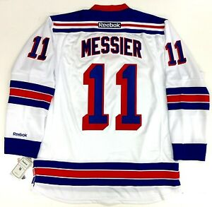 new style 81fb4 5954b Details about MARK MESSIER NEW YORK RANGERS REEBOK PREMIER WHITE JERSEY  WITH