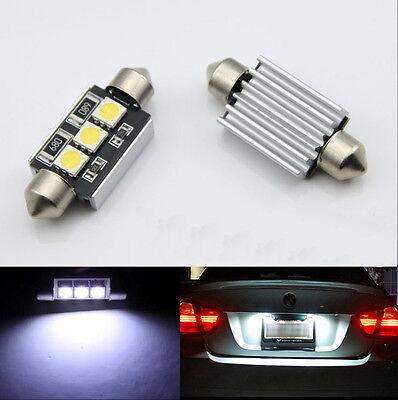 CANBUS BMW 3 series E36 E46 Number Plate Light LED Bulbs C5W 39mm 3 LED White