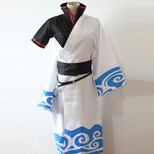 Japanese anime Gintama Sakata Gintoki Cosplay Costume Kimono