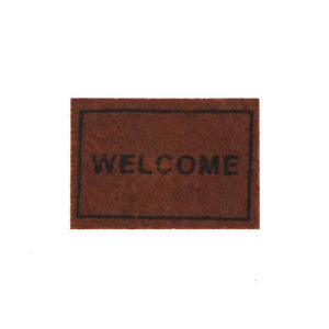 Dollhouse-Miniature-Welcome-floor-mat-Carpet-Rug-dollhouse-accessories-New