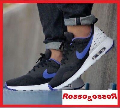 Scarpe NIKE AIR MAX TAVAS Sneakers da uomo ragazzo nero bianco viola 42 45 nere | eBay