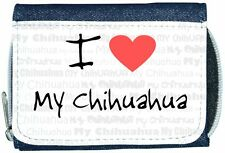 I Love Heart My Chihuahua Denim Wallet