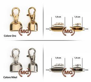 Moschettone metallico con campana per braccialetti, pendenti, borse, borselli