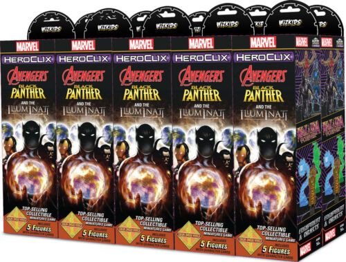 Heroclix Black Panther & The Illuminati Booster Brick (10 ct.) + Token Pack
