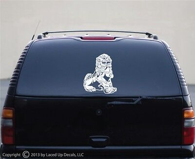 Chinese guardian lions Vinyl Decal,Imperial guardian lion,Shi,Foo Dogs,Sm
