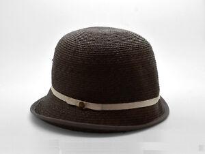 46c09998a3f7a B4 NWT GOORIN BROS Brown Eyed Girl Straw Asymmetrical Cloche Hat ...