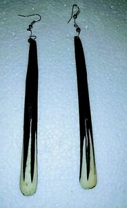 Africana-Handmade-Maasai-Tribal-Cow-Horn-Bone-Long-Dangle-Earrings