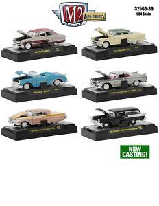 auto thentics 6 piece cars set release 39 in cases 1 64 m2. Black Bedroom Furniture Sets. Home Design Ideas