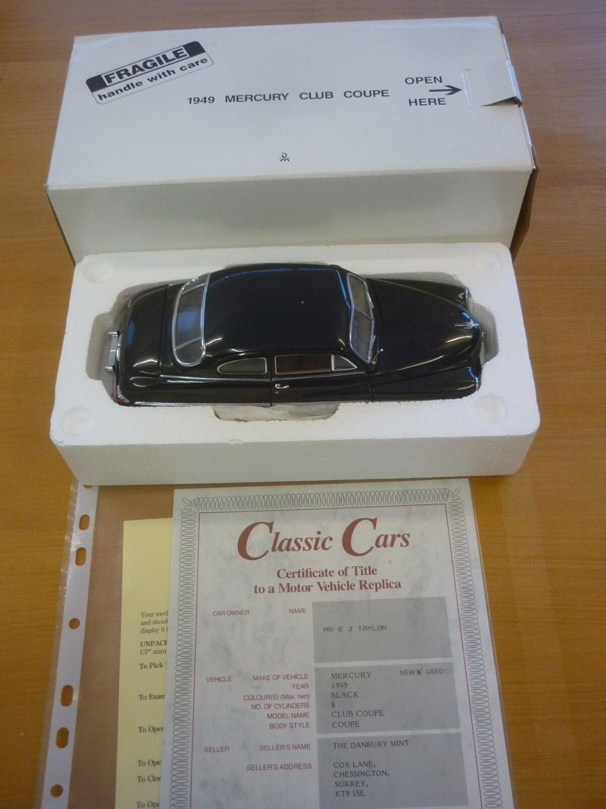 Ein von mint ein modell einer 1949 quecksilber club coupe geboxt, papierkram