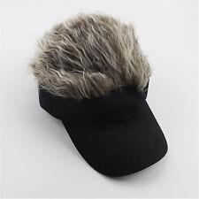 Fashion Unique Toupee Wig Baseball Hat Hook with Loop Adjustable Sun Visor  Cap W 38c29724154