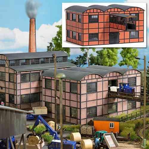 SH Busch 1558 Fabrikgebäude Lagerhalle mit Gebäudebrücke