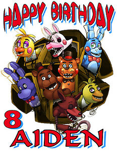 custom five nights at freddy s birthday t shirt party favor fnaf