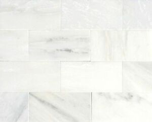Image Is Loading White Carrara Subway 3x6 Honed Finish Marble Tile