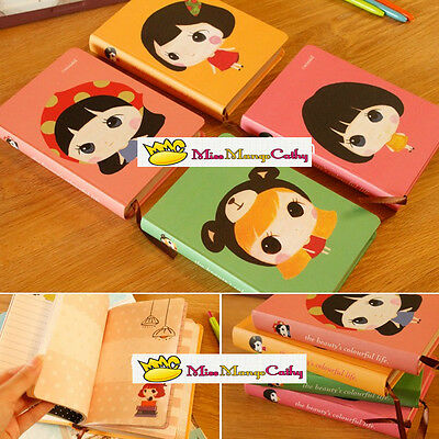 """Cute Doll"" 1pc Journal Diary Cute Hard Cover Planner Pocket Girl Notebook Memo"