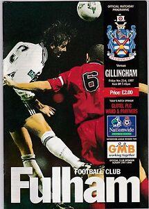 FULHAM-V-GILLINGHAM-2ND-DIVISION-21-11-97