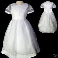 Girl Wedding Flower Girl 1st Communion Wedding Dress White 5 6 7 10 14