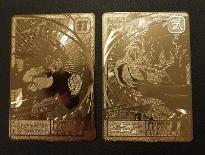 non-officiel Carte Dragon Ball Z Special Goku Gold Métal