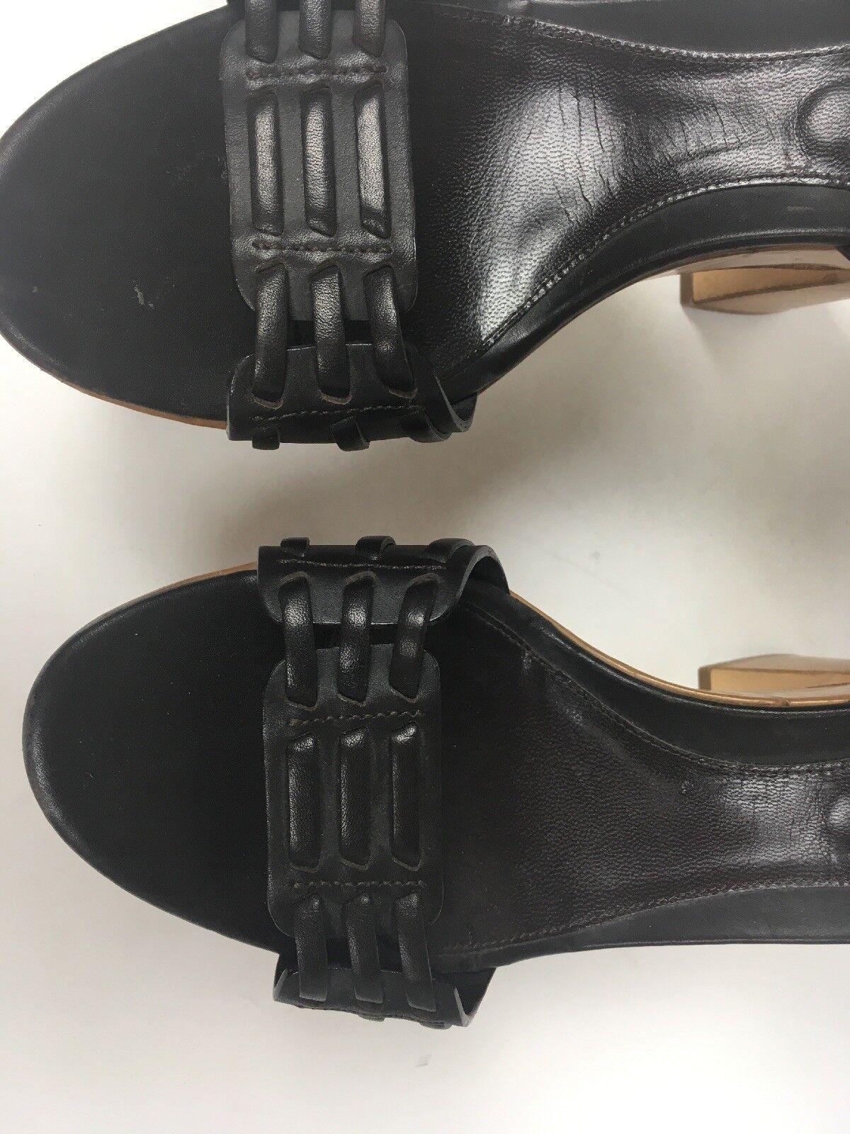 Sergio Rossi Größe Damenschuhe Dark Braun Platform Clogs Heels Schuhes Größe Rossi EU 39 Sb4 1d0cb3