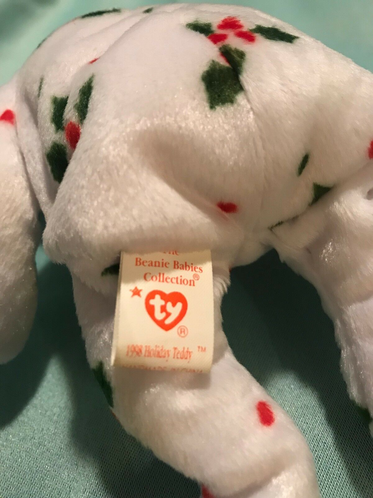1998 Holiday Teddy Beanie Beanie Beanie Baby and Jingle Beanie combo Holiday Special Set 476d70