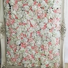 Flower Wall Panels Wedding Backdrop Peony Roses White Blush Pink - UK Supplier