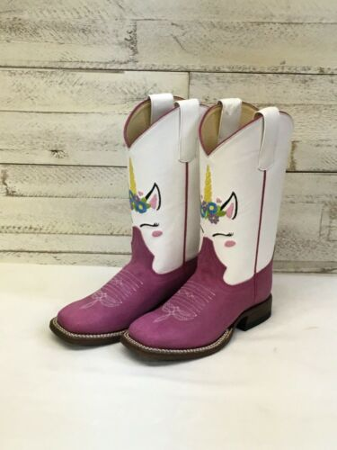 Style MK9205 Girls Macie Bean Pink Sinsation Boots w//Unicorn Embroidery
