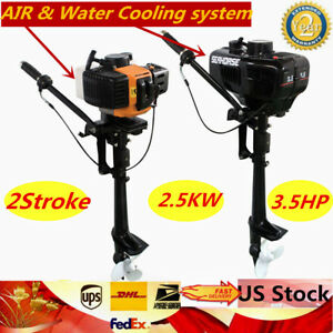 3-5HP-2-Stroke-Outboard-Motor-Engine-w-Water-Air-Cooling-for-Inflatable-Boat
