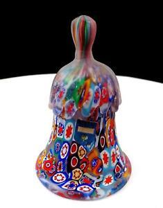Murano-Art-Cristal-Millefiori-Goteo-Mango-4-034-Campana-Original-Pegatina-600ms