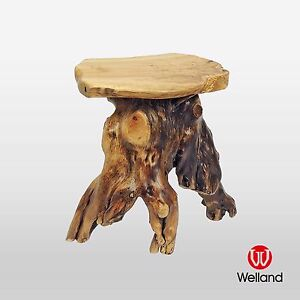 Welland Mushroom End Coffee Table Cedar Wood Stump