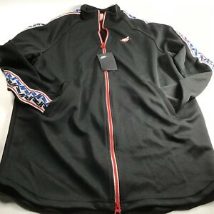 Nike NSW Taped Track Jacket Poly (Rot Weiß)